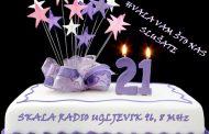 DANAS SKALA RADIO SLAVI 21. ROĐENDAN
