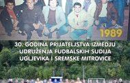 UDRUŽENJA FUDBALSKIH SUDIJA UGLJEVIKA I SREMSKE MITROVICE PROSLAVILI 30 GODINA BRATSTVA